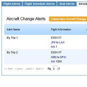 New ExpertFlyer Features - Aircraft Equipment Change Alerts